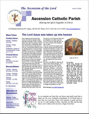 BULLETINS - ASCENSION CATHOLIC PARISH